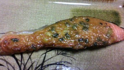 鮭の味噌マヨネーズ焼き_d0004447_22261460.jpg