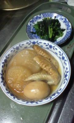 出来ました、鳥手羽と大根の煮物。_d0026905_17232982.jpg