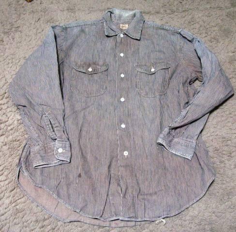 1月10日(日)入荷!50年代-60年代Lee ヒッコリーマチ付きシャツ!_c0144020_20473853.jpg