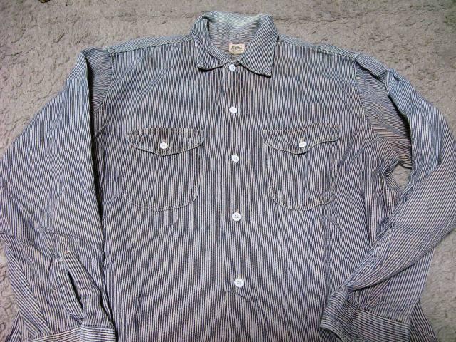 1月10日(日)入荷!50年代-60年代Lee ヒッコリーマチ付きシャツ!_c0144020_2047475.jpg