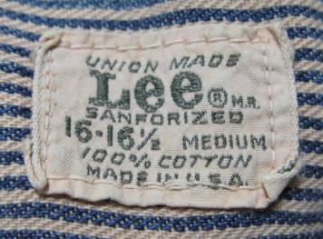 1月10日(日)入荷!50年代-60年代Lee ヒッコリーマチ付きシャツ!_c0144020_20481094.jpg