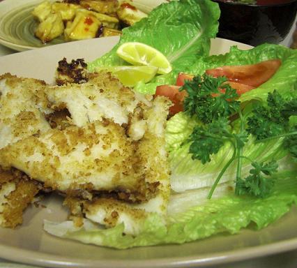 白身魚のパン粉焼き。_c0119140_132849.jpg