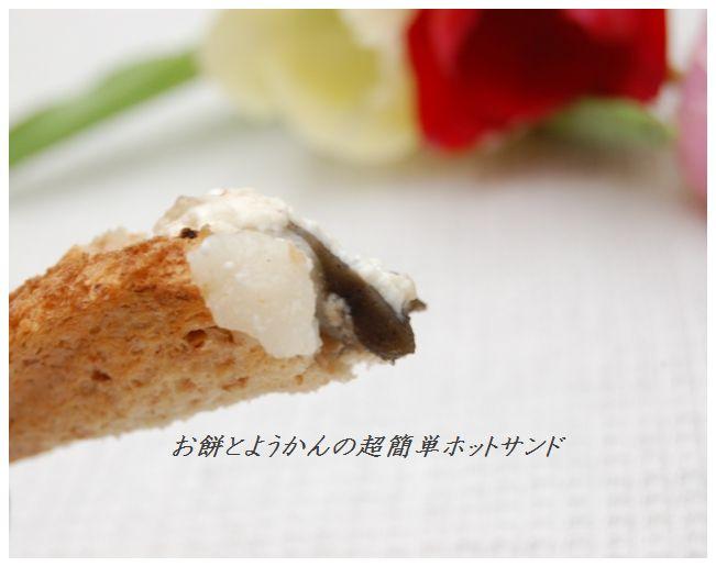 余ったお餅とようかんの超簡単ホットサンド☆_d0104926_23561742.jpg