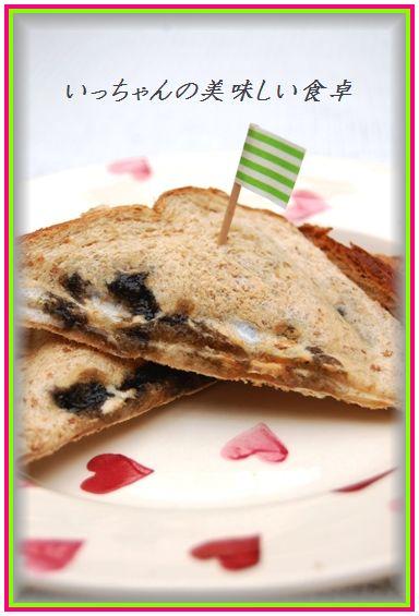 余ったお餅とようかんの超簡単ホットサンド☆_d0104926_235642100.jpg