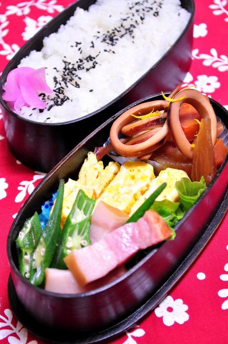 イカ大根の煮物のお弁当_b0171098_7135270.jpg