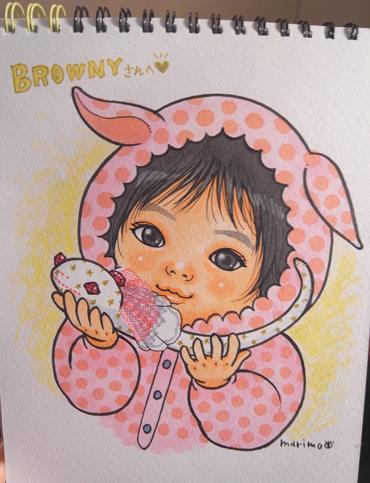 赤ちゃんの似顔絵描いた_e0177207_1317685.jpg