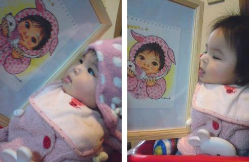 赤ちゃんの似顔絵描いた_e0177207_1325814.jpg