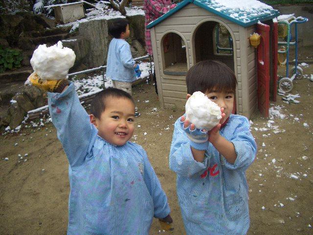 雪が降ったよ!!_c0107515_23332022.jpg