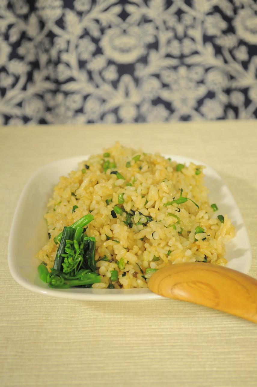 旨塩にんにく味☆菜の花炒飯_d0134753_98087.jpg