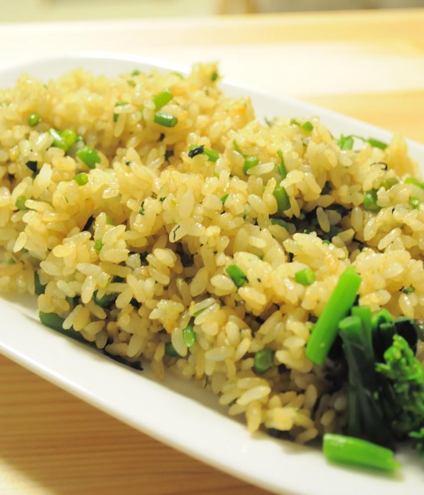 旨塩にんにく味☆菜の花炒飯_d0134753_982287.jpg