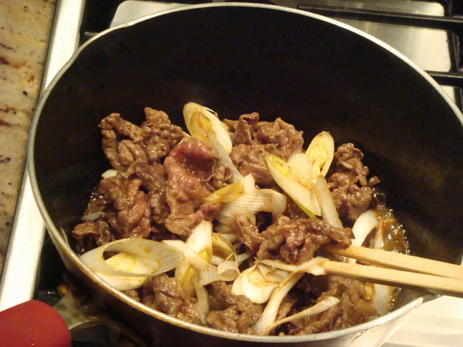 しばれる晩は肉うどんが一番、_d0100880_22195252.jpg