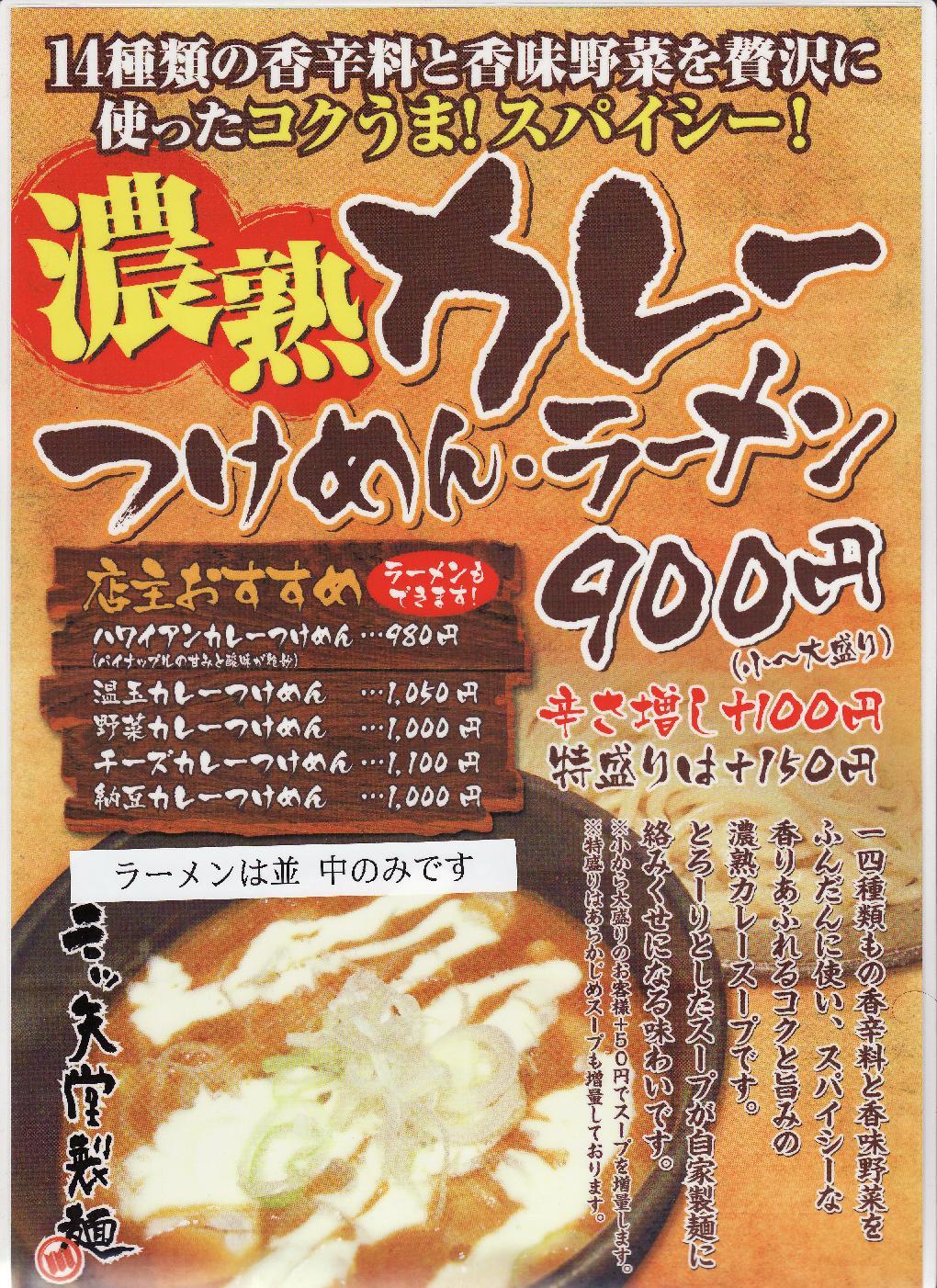 カレーラーメン&カレーつけ麺遂に登場!!!_e0173239_6231287.jpg