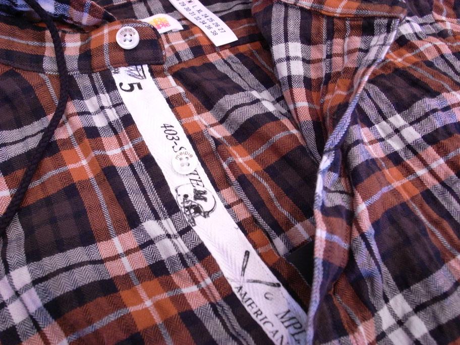 melple (メイプル) P/O フードチェックシャツ_b0122806_1302078.jpg