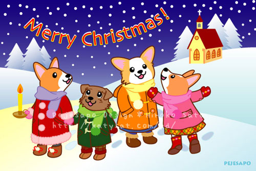 2009年P\'sちゃんクリスマスカード_d0102523_1213686.jpg