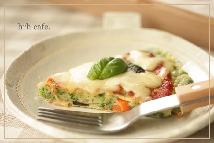 体も喜ぶ、しあわせ米粉でもっちり野菜ピザ♪_b0165178_835376.jpg