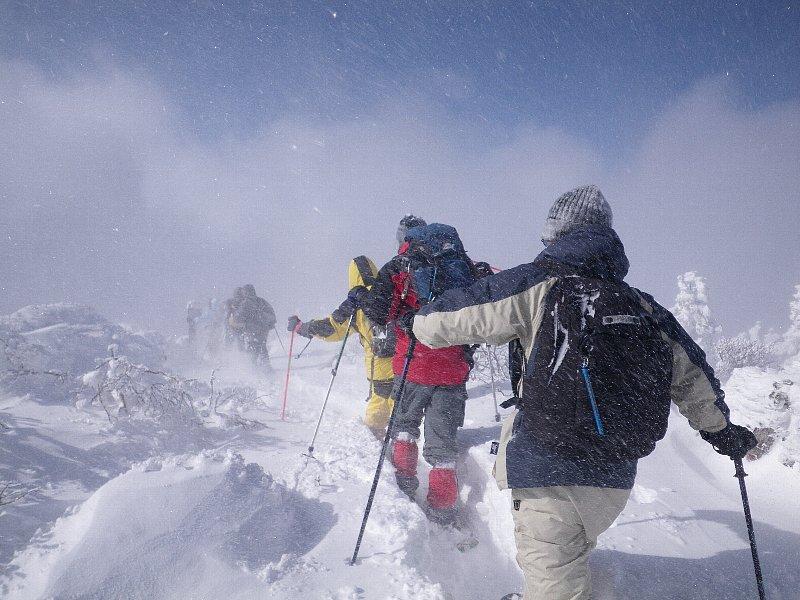 スノーシューで登る後烏帽子岳 ~ 2010年1月16日_f0170180_5393354.jpg