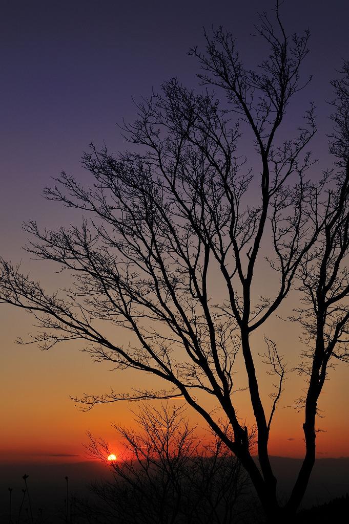 夕日 筑波山つつじヶ丘ロープウェイ乗り場から_e0037126_21301241.jpg