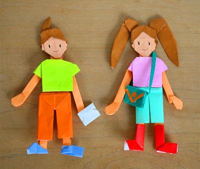 バラ 折り紙:折り紙 人形-ienonews.exblog.jp