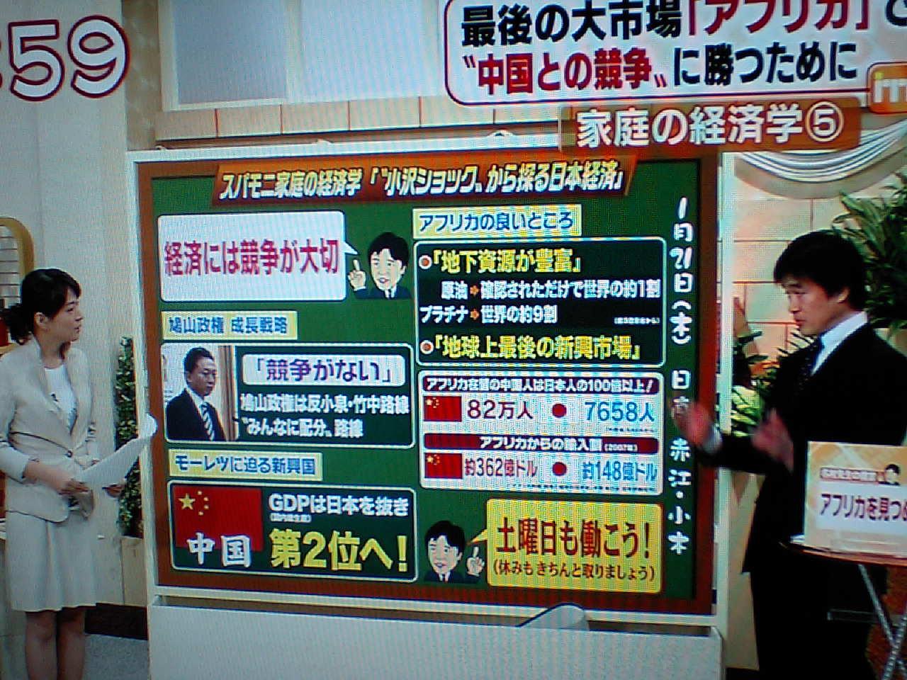 テレビ朝日の番組から 中国も経済大国に?_d0027795_905179.jpg