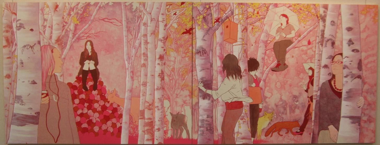 1166) ②時計台 「第4回 にかわえ展」・日本画 終了・1月12日(月)~1月17日(土) _f0126829_19514063.jpg