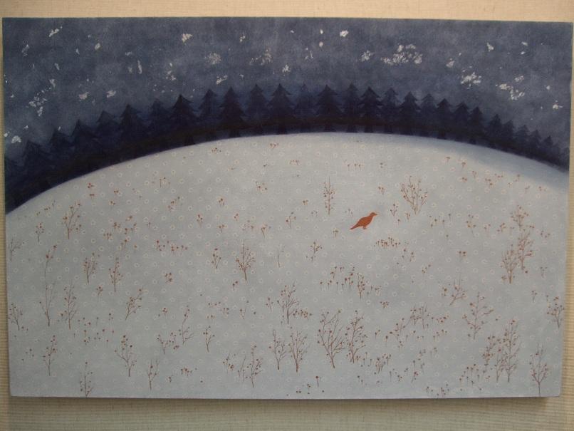 1166) ②時計台 「第4回 にかわえ展」・日本画 終了・1月12日(月)~1月17日(土) _f0126829_20174678.jpg