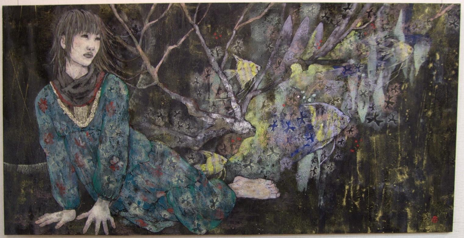 1166) ②時計台 「第4回 にかわえ展」・日本画 終了・1月12日(月)~1月17日(土) _f0126829_206560.jpg