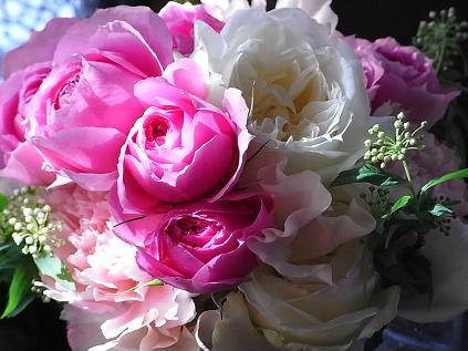 ピンクのバラのブーケ♪_b0105897_033481.jpg