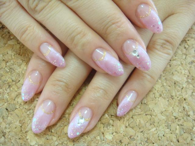 ピンクカラーで春ネイル♪_a0145558_1415367.jpg
