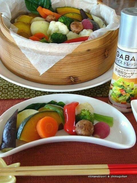 GABANスパイスドレッシングで 温野菜サラダ♪_c0139375_15153977.jpg
