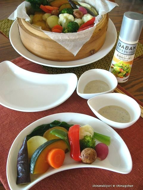 GABANスパイスドレッシングで 温野菜サラダ♪_c0139375_1519663.jpg