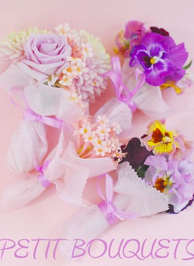 パンジーブーケのお花バスケット_a0115684_23432516.jpg