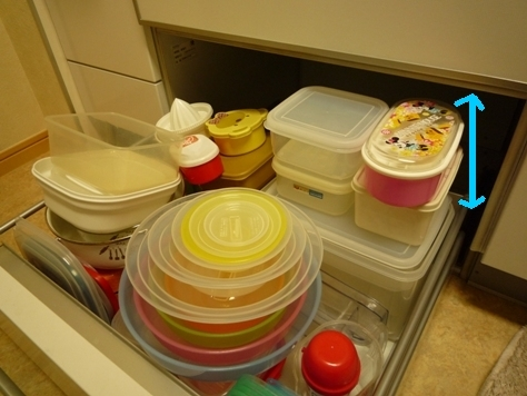 キッチンの引き出しパンパン・・・ タッパの収納_e0123286_20111480.jpg