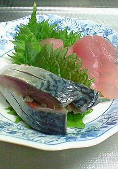 お刺身(1/24)、ヘルシ-焼き餃子(1/26)♪_f0116812_8472985.jpg