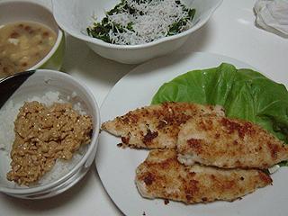 鶏ささみのマヨチーズ焼き_c0025217_1051940.jpg