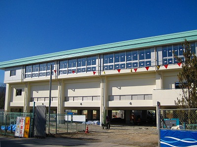 誕生寺養護学校 体育館整備工事_f0151251_1765319.jpg