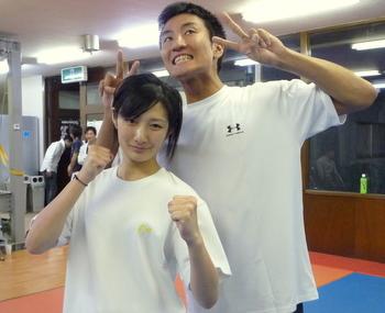 大渡博之さん、K-1引退試合で勝利!_f0180438_1254764.jpg