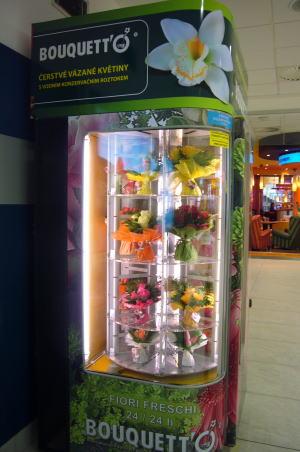 プラハの空港にお花の自動販売機が・・・_c0182100_21152788.jpg