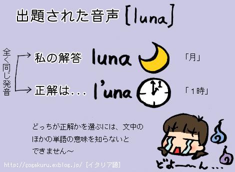 イタリア語】「1時」と「月」、...