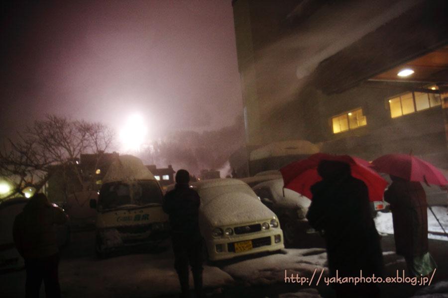 宇奈月温泉冬物語 雪のカーニバル ~雪上花火大会(吹雪)~_b0157849_20422325.jpg