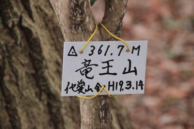 花之木(法花)断層の竜王山を歩く 361.7m  三重県伊賀市_d0055236_1321541.jpg