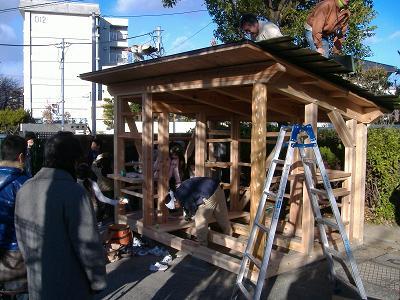 佐竹台小学校コミュニティースポット新築イベント、始まりました!_f0119692_19115244.jpg