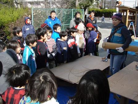 佐竹台小学校コミュニティースポット新築イベント、始まりました!_f0119692_19121560.jpg