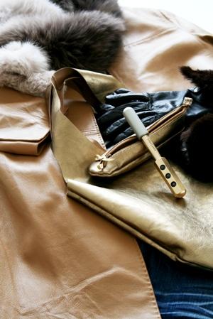 northnodeさんのゴールドの革のバッグとペンケース_b0048834_215104.jpg
