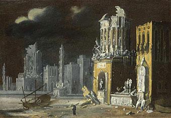 聖アウグスティヌスと子供のいる幻想的廃墟The National Gal...  Fantoma
