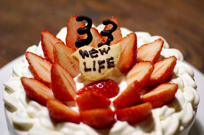 誕生日&引っ越し祝いのショートケーキ_c0110869_11345295.jpg