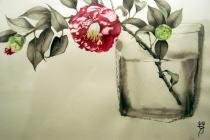 The Wind of England by まかな瑠音/花に聞く「椿」@OPA/あがた森魚ライヴ@ポスターハリスギャラリー_f0006713_8374995.jpg