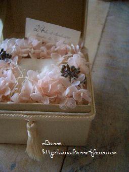 ピンクのお花のリングピロー_e0127625_210452.jpg