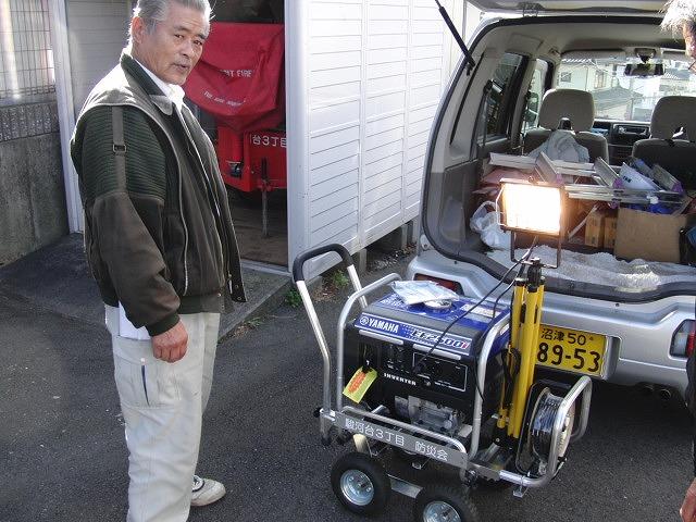 町内自主防災会で新しい発電機などを購入_f0141310_2335845.jpg
