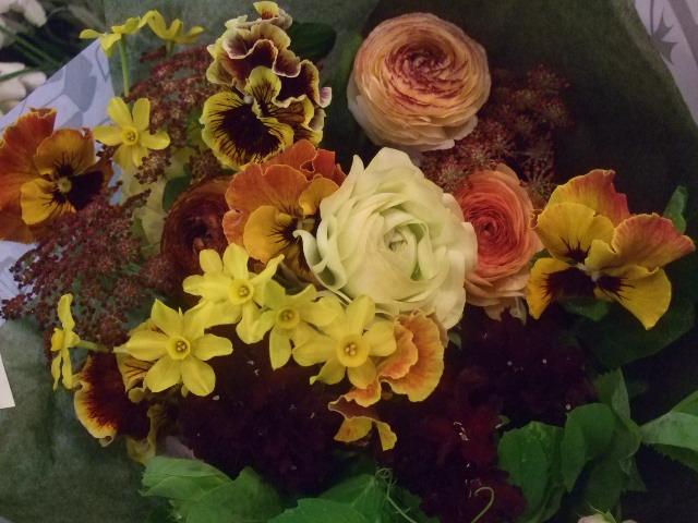 オークリーフ(黄色×ブラウンの花束)_f0049672_1525818.jpg