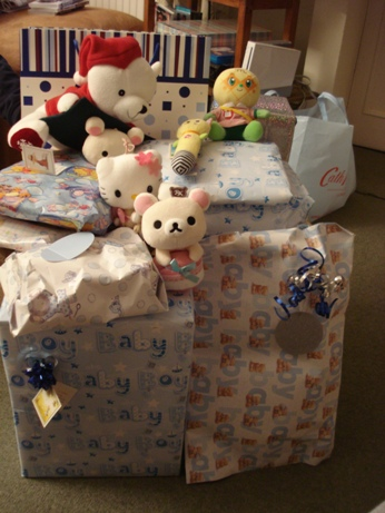 Lにたくさんの方から贈り物をいただきました♪これは↑義理両親と義理祖母(... たくさんの贈り物